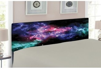 East Urban Home Outer Space Queen Upholstered Panel Headboard Size: Twin