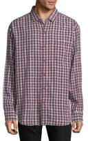 Tommy Bahama Copatana Plaid Cotton Casual Button-Down Shirt