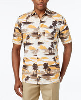 Tasso Elba Men's Tropical-Print Short-Sleeve Shirt, Classic Fit