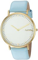 RumbaTime Women's 'SoHo Leather Sky' Quartz Metal and Leather Casual Watch, Color:Blue (Model: 24708)