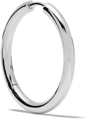 Tom Wood Sterling Silver Round Hoops