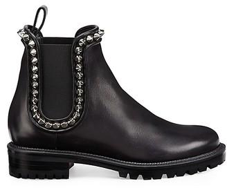 Christian Louboutin Crapahutta Flat Leather Booties
