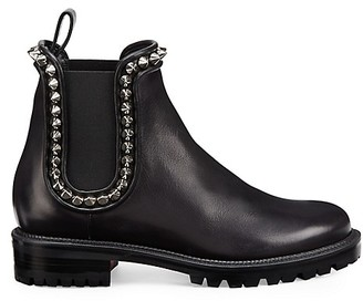 Christian Louboutin Crapahutta Spiked Leather Chelsea Boots