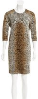 Dolce & Gabbana Wool Cheetah Print Dress