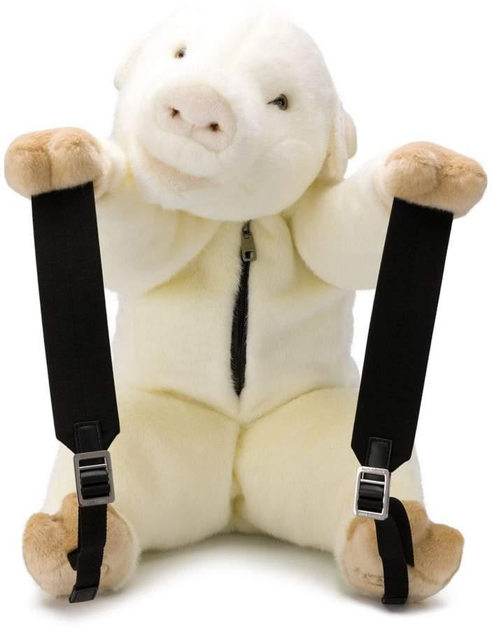 Dolce & Gabbana faux-fur bear backpack