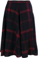 Bellerose checked flared skirt