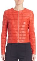 Escada Embossed Leather Jacket