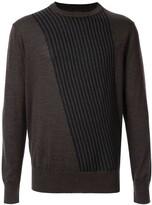 Cerruti knitted striped jumper