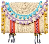San Diego Hat Company Women's Flap Closure Paperbraid Clutch BSB1715