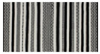 """French Connection Anwar Southwestern Handmade Flatweave Cotton Black Area Rug Rug Size: Rectangle 2'3"""" x 3'9"""""""
