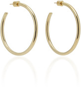 Jennifer Fisher Baby Classic 14K Gold-Plated Hoop Earrings