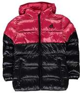 adidas Kids Girls Back to School Padded Bubble Jacket Junior Coat Top Chin Guard