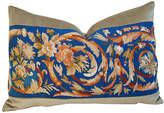 One Kings Lane Vintage French Needlepoint & Velvet Pillow