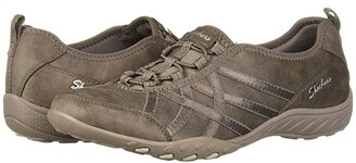 Skechers Breathe-Easy - Days End (Dark Taupe) Women's Shoes