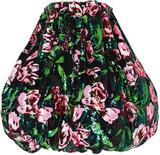 Richard Quinn Oversized Sequined Duchesse-Satin Dress