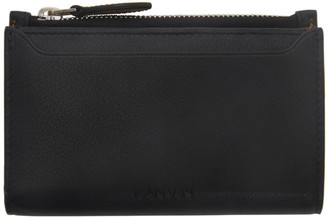 Lanvin Black Large Zipped Card Wallet