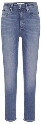 Calvin Klein Jeans 010 High Rise Skinny Ankle Grazer Jeans