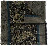 Etro paisley fringed scarf