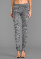 Plush Marled Sweater Legging in Gray. - size L (also in M,S,XS)