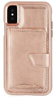 Case-Mate iPhone Xs / X Rose Gold Compact Mirror Case