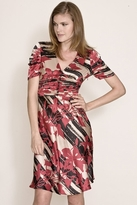 Corey Lynn Calter Lianne Ruched Dress in Ruby
