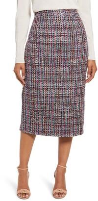 Halogen Callie Tweed Pencil Skirt