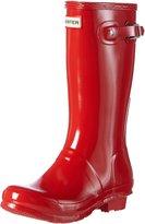 Hunter Kids Gloss Youth US 3 Red Rain Boot