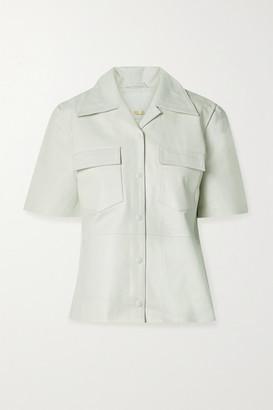 REMAIN Birger Christensen Siena Leather Shirt - White