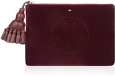 Anya Hindmarch Smiley Georgiana velvet clutch