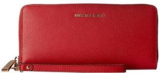 MICHAEL Michael Kors Travel Continental (Bright Red) Handbags