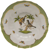 Herend Rothschild Bird Green Motif 12 Rim Soup Bowl