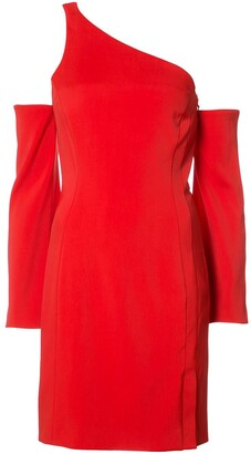 Thierry Mugler Off-Shoulder Fitted Dress