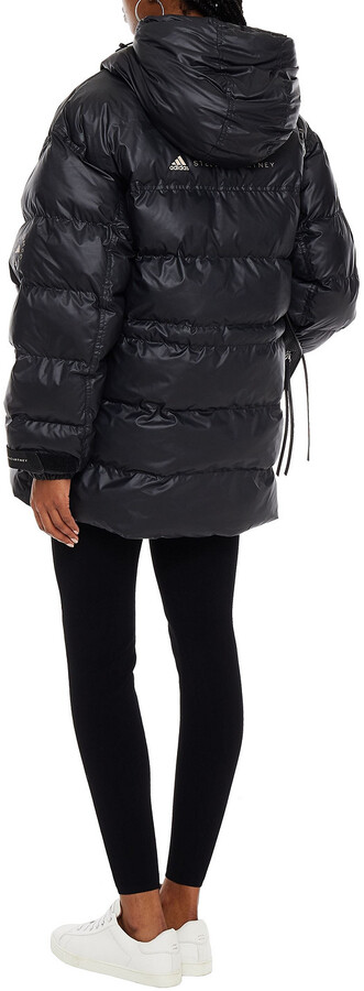 Thumbnail for your product : adidas by Stella McCartney Quilted Shell Hooded Jacket