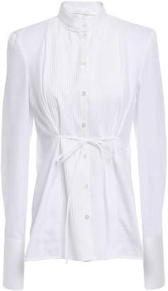 Victoria Victoria Beckham Victoria, Victoria Beckham Pintucked Paneled Cotton Shirt