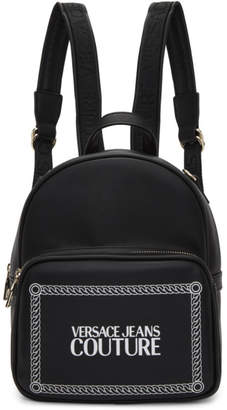 Versace Black Small Square Logo Backpack
