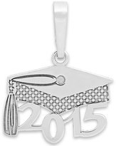 Macy's 2015 Graduation Cap Charm Pendant in 14k Gold and 14k White Gold