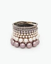 Le Château Pearl-Like & Gem Bracelet Set