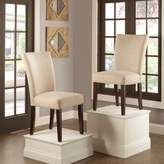 Verona Home Tosca Linen Dining Side Chair in Beige (Set of 2)