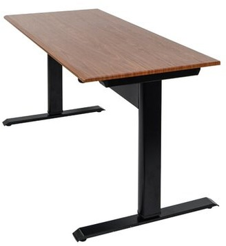 Pneumatic Height Adjustable Standing Desk Symple Stuff