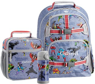 Pottery Barn Kids Mackenzie Marvel Avengers Glow-in-the-dark Backpack & Lunch Bundle, Set Of 3