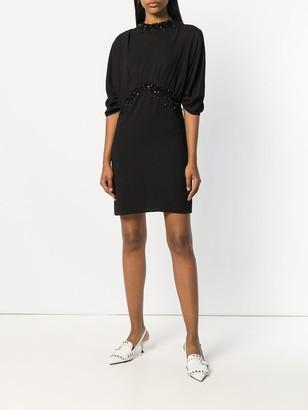 Prada Crystal-Embellished Mini Dress