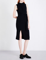 Mo&Co. Sleeveless wool-blend dress