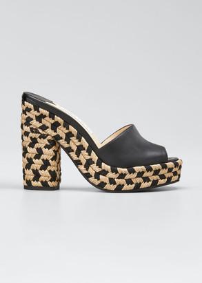 Jimmy Choo Deedee Bicolor Slide Sandals