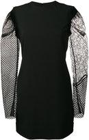 Saint Laurent contrasting sleeve mini dress - women - Acetate/Viscose/Polyester/Silk - 38