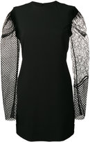 Saint Laurent contrasting sleeve mini dress - women - Silk/Polyamide/Polyester/Viscose - 36