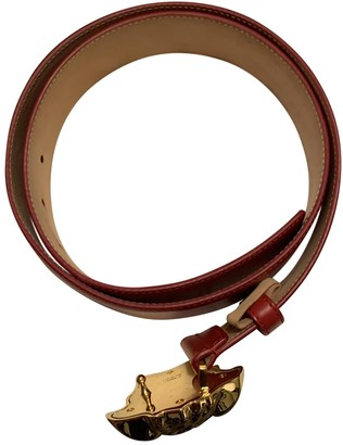 Versace Red Leather Belts