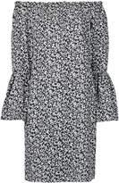 Michael Kors off-shoulder floral print dress