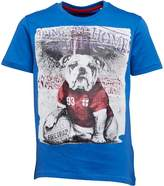 Firetrap Junior Boys Bulldog Footy Hero T-Shirt Deep Sky Blue