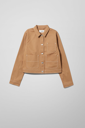 Weekday Lynn Twill Jacket - Beige