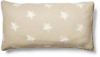 One Kings Lane Maisie 12x23 Lumbar Pillow - Khaki/Ivory